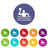 Water polo set icons Royalty Free Stock Image