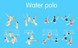 Water polo set. Royalty Free Stock Image