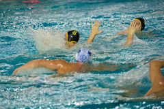Water-polo spel Stock Afbeelding