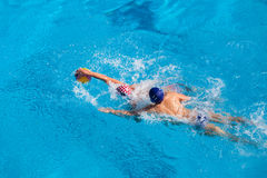 Water-Polo Swimming Pool Action Stock Photography