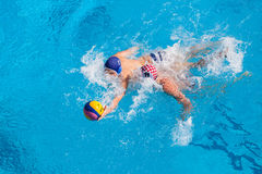 Water-Polo Swimming Pool Action Stock Photo