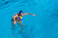 Water-Polo Swimming Pool Action Royalty Free Stock Photography