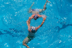 Water-Polo Swimming Pool Action Royalty Free Stock Image