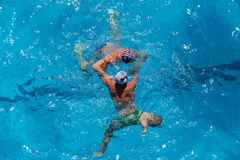 Water-Polo Swimming Pool Action Stock Images