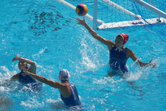 Water polo women. Hungary vs russia Stock Images