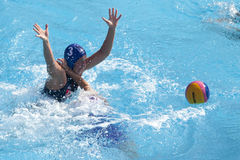 Water polo women. Hungary vs russia Royalty Free Stock Photos