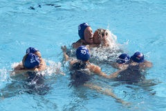 Water polo women. Hungary vs russia Stock Photo