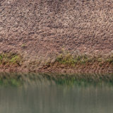 Water pond and earth soil texture effect. From ore mine mining industry stock photos