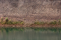 Water pond and earth soil texture effect. From ore mine mining industry stock photography