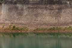 Water pond and earth soil texture effect. From ore mine mining industry royalty free stock photography