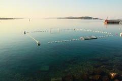 Water pool in Adriatic sea. Water pool in Vodice (Croatia stock image