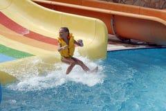 Water pool in aquapark stock image
