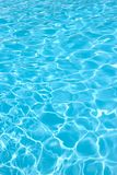 Water pool. Rippling water in a pool. Bright blue water background stock photography