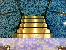 Water pool stairs indoors Stock Photography