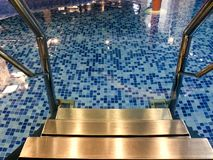 Water pool stairs indoors Royalty Free Stock Image