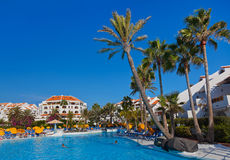 Water pool at Tenerife island Royalty Free Stock Photos