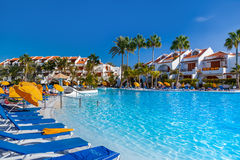 Water pool at Tenerife island Royalty Free Stock Image