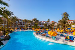 Water pool at Tenerife island Royalty Free Stock Images