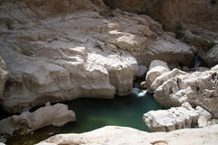Water pool in Wadi Bani Khalid Stock Photo