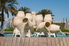 Water pot fountain Royalty Free Stock Photography