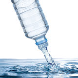 Water pour from water Bottle Stock Photography