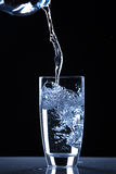 Water poured into glass, Stock Photos