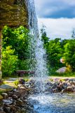 Waterfall from above. royalty free stock images