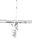 Water pouring. Clear water pouring background - isolated Royalty Free Stock Photo