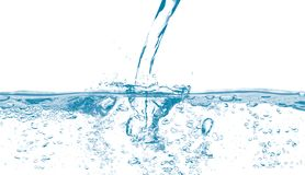 Water pouring with bubbles royalty free stock images