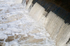 Water, pouring through dam Royalty Free Stock Photo