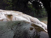 Water Pouring Off Agua Azul Cascade Royalty Free Stock Photos