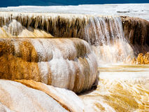 Yellowstone Hot Springs Waterfall Royalty Free Stock Photography