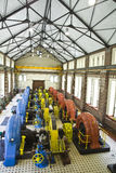 Water power plan. Old electric power generating station Royalty Free Stock Photography