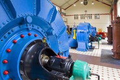 Water power plant. Old electric power generating station Royalty Free Stock Photos