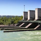 Water power plant Stock Image