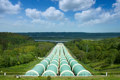 Water power plant pipes Royalty Free Stock Photography