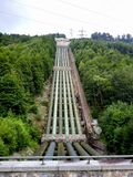 Water Power Plant - water pipes Royalty Free Stock Photos