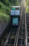 Water-powered funicular between the villages of Lynton and Lynmouth. Royalty Free Stock Photography