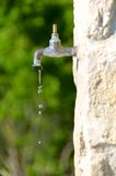 Water preservation, old faucet Royalty Free Stock Image