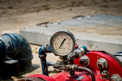 Water pressure gage. Image of Water pressure gage royalty free stock photo