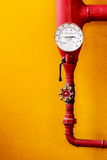 Water pressure gauge Royalty Free Stock Images