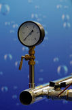 The water pressure gauge. Royalty Free Stock Image