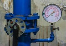 Water pressure gauge meter Royalty Free Stock Images