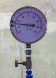 Water pressure gauge meter Royalty Free Stock Photography