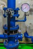 Water pressure gauge meter Royalty Free Stock Image