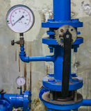 Water pressure gauge meter Royalty Free Stock Photos
