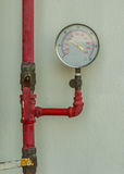 Water pressure gauge meter Stock Photos