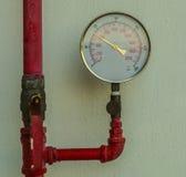 Water pressure gauge meter Royalty Free Stock Photo