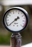 Water pressure meter. Beautiful closeup shot of water pressure meter Royalty Free Stock Photo