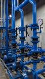 Water pressure meter installed Stock Photo